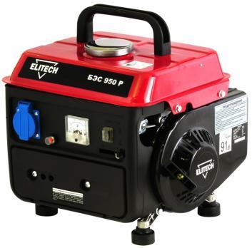 Бензиновый генератор Elitech БЭС 950Р