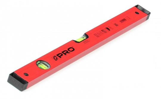 Алюминиевый уровень PRO 600 с 2 магнитами, красный, 40 см A3-040