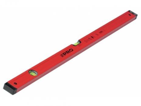 Алюминиевый уровень PRO 600 с 2 магнитами, красный, 120 см A3-120