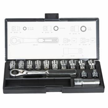 Набор ключей и проходных головок 14 предметов В-65595