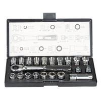 Набор ключей и проходных головок 21 предметов В-65604_0